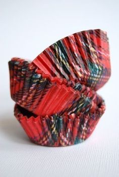 Tartan cup cake wrappers. How cute