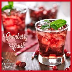 This cool refreshing wine cocktail is just what today ordered. Check out the recipe for our Cranberry Crush: http://ow.ly/vEzKs