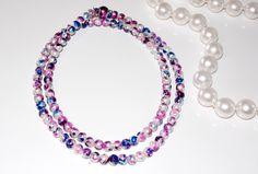 DIY Splatter Paint Pearl Necklace