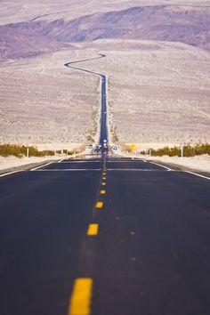 Take the road less traveled. Death Valley, California
