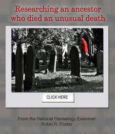 Researching an ancestor who died an unusual death: http://www.examiner.com/article/researching-an-ancestor-who-died-an-unusual-death #genealogy