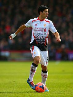 The Premier League's leading goalscorer, Luis Suarez of Liverpool FC.
