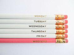 Hello Weekend Pencils