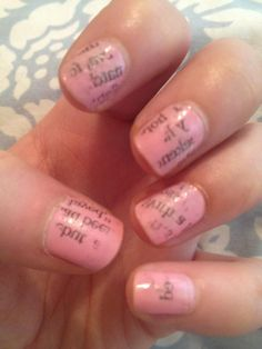 For sure trying this! Newspaper nails