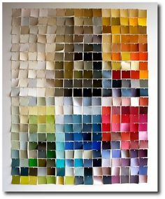 paint chip mosaic- I might try this maybe mini though