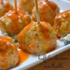 Buffalo chicken meatballs. Making these for subs. Love Buffalo Chicken!