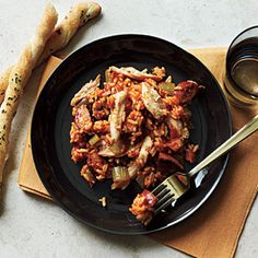 Chicken and sausage jambalya