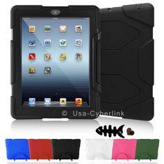 Kid WaterProof ShockProof Armor Military Hard Case Cover For Apple iPad 2 3 4 .A #UnbrandedGeneric