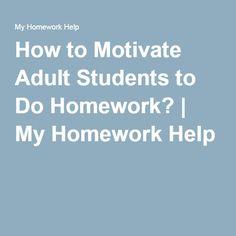 motivating students to do homework