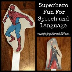 Superheroes in Speech!-how to create your own superhero puppets and how to use them in therapy. From Playing with words 365. Pinned by SOS Inc. Resources @sostherapy.
