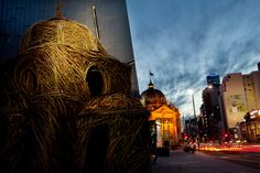 Beautiful - Melbourne cathedral made entirely from Willow weeds.