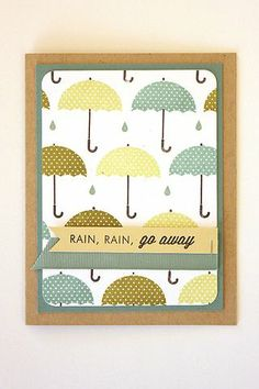 Umbrellas Card by Heather Nichols for Papertrey Ink (April 2014)
