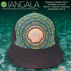 This Jangala Crown's centerpiece is a beautiful bay scallop shel that I found in Cape Cod last winter!