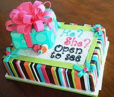 Baby gender reveal cake.