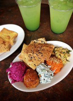 Sofra Meze plate with Basil Lemonade