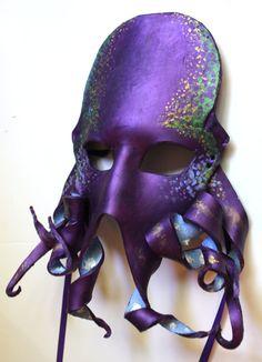 Octopus Mask - Handmade Leather Mask #mask