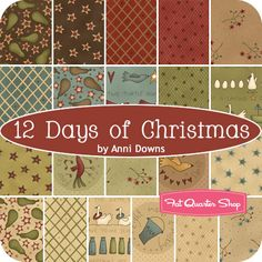 12 Days of Christmas Yardage Anni Downs of Hatched and Patched for Henry Glass Fabrics - Fat Quarter Shop