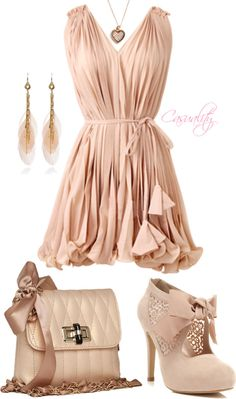 """Rose Pink Vintage Feminine Ruffle Dress"""