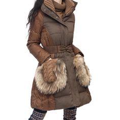 Artka Women's Lux Raccoon Hair Puff Down Filled 90% White Duck Down Coat $183.92 (55% OFF)