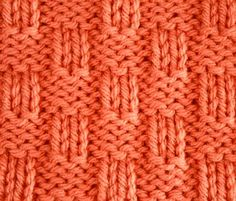 Knitting Galore: Saturday Stitch : Basket Weave