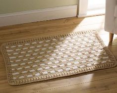 Contemporary Classic Crochet Rug - cheapest rug ever!