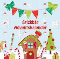 Stickbär Adventskale