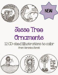 Beautiful Jesse ]Tre]e Ornaments for Advent, $5