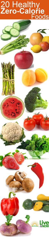 "20 Healthiest ""Zero Calorie"" foods"