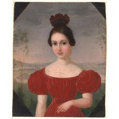 Portrait of Marie Louise Têtu, Madame François Fleischbein, François (Franz Joseph) Fleischbein, c. 1833-1836, Dallas Museum of Art