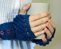 button up fingerless gloves #free #crochet #pattern