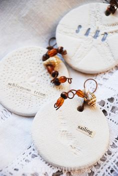 The White Bench: Great Tutorial: Beach- Inspired Clay Tags.