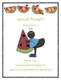 FREE!  MATH JOURNAL PROMPTS