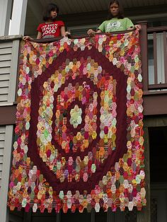 Paper Pieced Project finally completed. by Quiltsalad, via Flickr