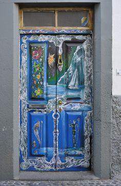 Painted Door in Funchal