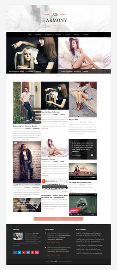 Harmony is an awesome WordPress theme which brings simple