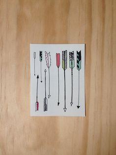 Arrow Tattoos. arrows, colors, temporary arrow tattoo, art, children, colorful arrow tattoo, a tattoo, little arrow tattoo, design