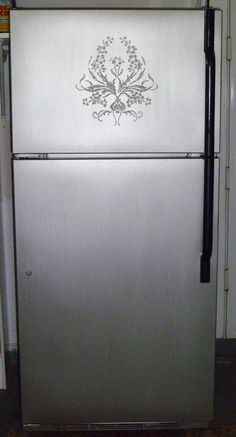 Converting your refrigerator to stainless steel! DIY tutorial. :)
