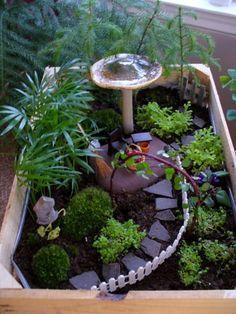 Fairy Garden by Valerie Helgren