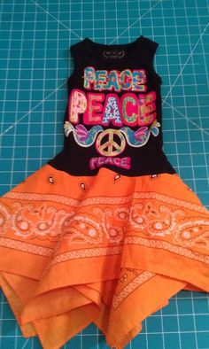bandana tank, little girls, craft, kids clothes, dress tutorials