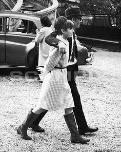 Audrey Hepburn & Peter O'Toole on the set of How To Steal A Million