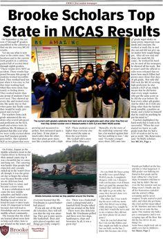 Brooke Bulletin Newspaper -- middle school newspaper. 8 page school newspaper! Full color newspaper PDF