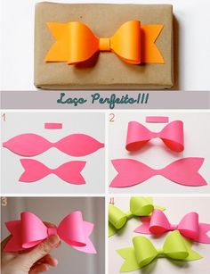 Paper bows.