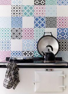 light blue, tile patterns, laccio, kitchen