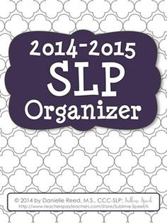 2014-2015 SLP Organizer from @Sublime Speech.  Discounted until summer!