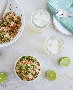 Thai Chicken Quinoa Bowl I howsweeteats.com