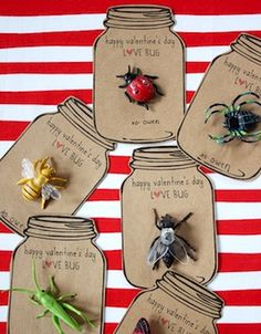 Love bug Valentine card idea