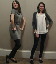 leggings outfit ideas | Tops: Generally, I stick to black, white, grey. Because it's easy. But ...