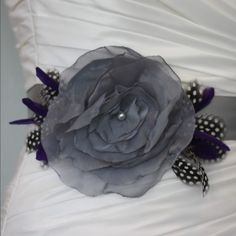 bridalshoppe.etsy.com #bridal sash dove gray