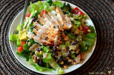 Barbecue Ranch Chicken Salad - Bless This Mess