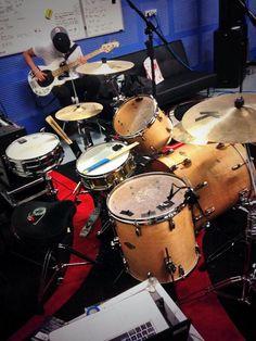 Ashton's new drum set